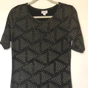 LuLaRoe Elegant Julia Black and Gold Sparkle